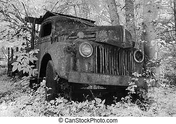 Old Truck In Infrared