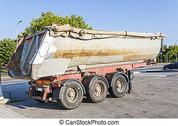Old truck trailer