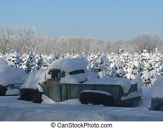 Old Truck Winter