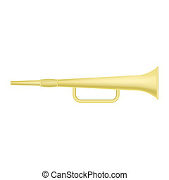 Old trumpet icon, realistic style - Old trumpet icon....