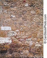 old tuscan stone wall