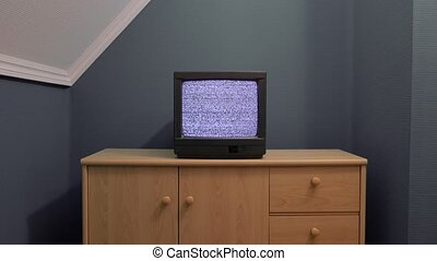 Old TV no signal - No signal just white noise on a small old...