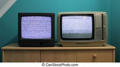 Old TV no signal - No signal just white noise on two old TV ...