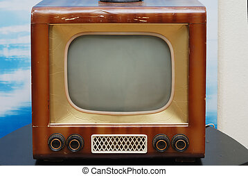old TV set - old grunge television set on the table
