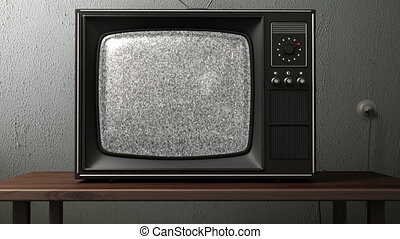 old TV. switching channels