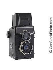 Old twin-lens reflex camera - Twin-old medium-format camera ...