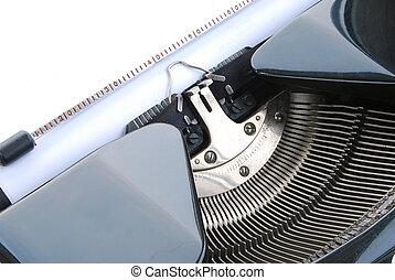 Old typewriter close-up