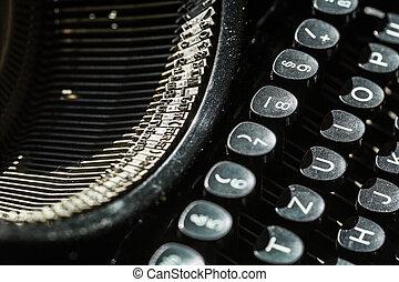 old typewriter, close-up