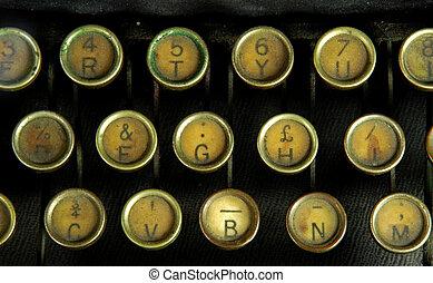 Old typewriter, detail