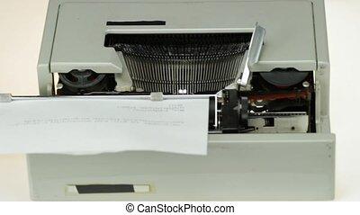 typewriter detail - old typewriter detail