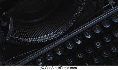 Old typewriter details - Close up view of old Typewriter...
