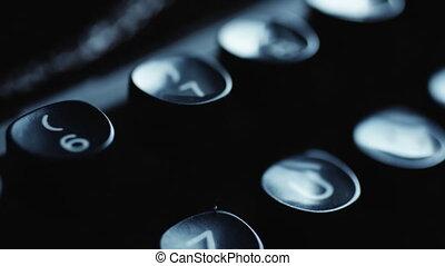 Old typewriter details - Close up view of old Typewriter...