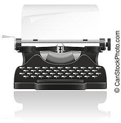 old typewriter illustration