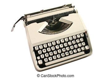 Old typewriter. - Old cream colored typewriter