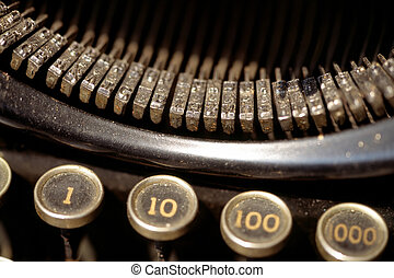 Old dusty typewriter.