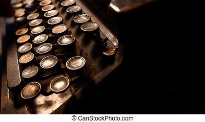 Old typewriter operation