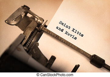 Old typewriter - Saint Kitts and Nevis