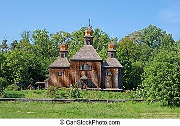 Old Ukrainian church, Pirogovo, near Kyiv, Ukraine