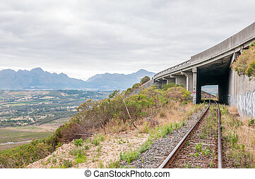 Old, unused roalroad in Sir Lowrys Pass