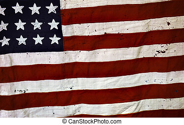 Old USA flag