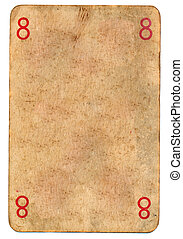 old used dirty empty playing card paper background