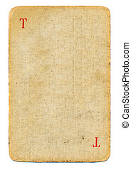 old used empty playing card paper background