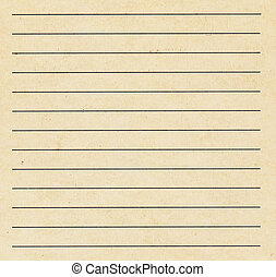 old used index catalog paper card with line background