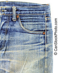 old used jeans jeans pocket