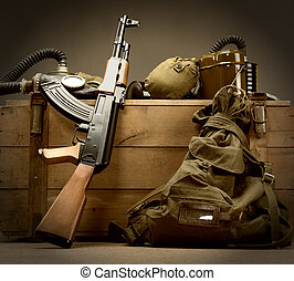 Old USSR military equipment - Kit of old USSR military...