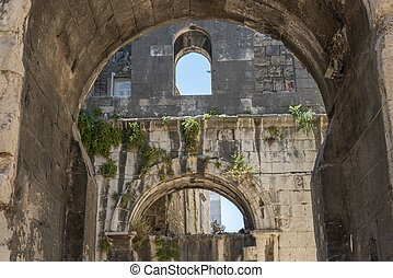 Old vaults in Split in Croatia