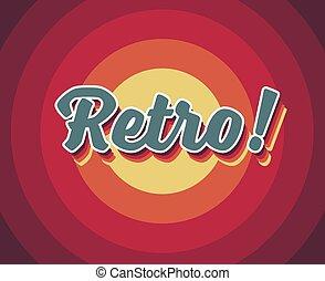 Old vector retro vintage label heading