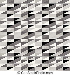 Old vector seamless pattern. Abstract triangles background