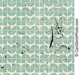 Old vector seamless pattern of tiles. - Old vector seamless...