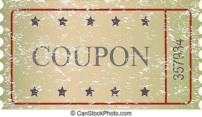 Old vector vintage paper sale coupon