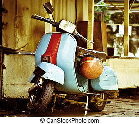 moped - old vespa moped in china town KL malasia