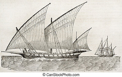 Old vessel illustration. By unidentified author, published...