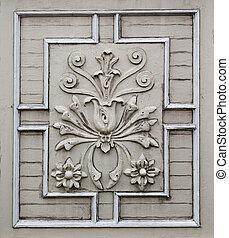 Old victorian flower facade