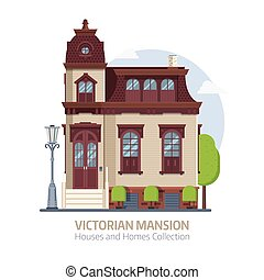 Old Victorian Mansion Building - Old mansion building...