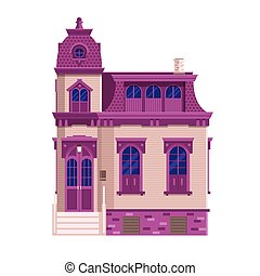 Old Victorian Mansion Building