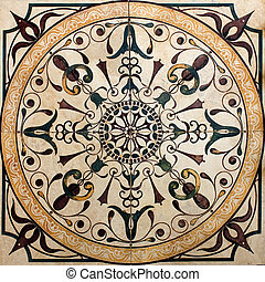 old Victorian printed tile