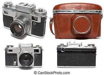 photo camera - Old viewfinder photo camera. Isolated on ...