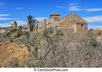 old village destroyed in ruins and abandoned by the bombs of war