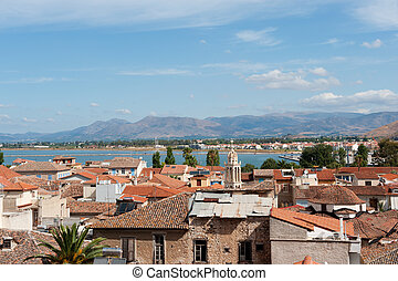 Old village Nafplion with a wide view