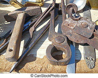 Tools on flea market