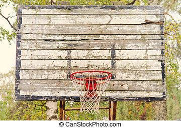 old vintage basketball hoop
