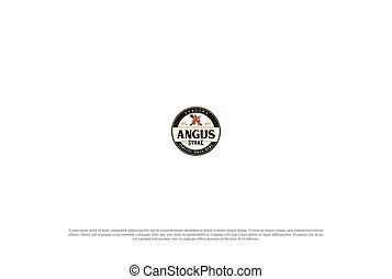 Old Vintage BBQ Barbecue Grill Stamp Label Logo Design Vector