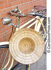 Old vintage bicycle.