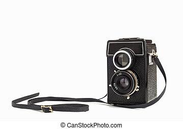 Lomo camera - Old vintage camera on white background. Lomo ...