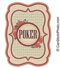 Old vintage casino poker background