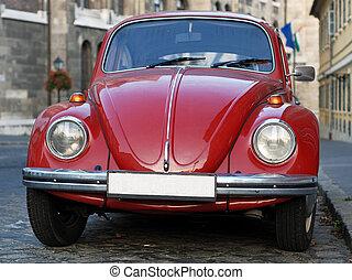 Old vintage classic car closeup